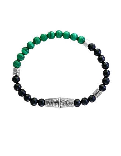 Effy Sterling Silver Malachite And Onyx Bracelet-GREEN/BLACK-One Size