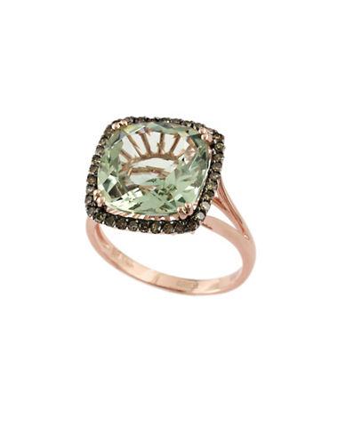 Effy 14K Rose Gold Espresso Diamond and Green Amethyst Ring-GREEN AMETHYST-7