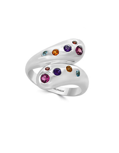 Effy 925 Sterling Silver Ring with Amethyst, Blue Topaz, Citrine, Garnet, and Pink Tourmaline ring-MULTI-7