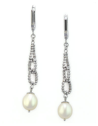 Effy Sterling Silver Fresh Water Earrings-PEARL-One Size