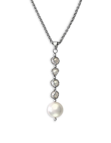 Effy 4.5 MM-10.5 MM Cultured Freshwater Pearls and 0.925 Sterling Silver Necklace-PEARL-One Size