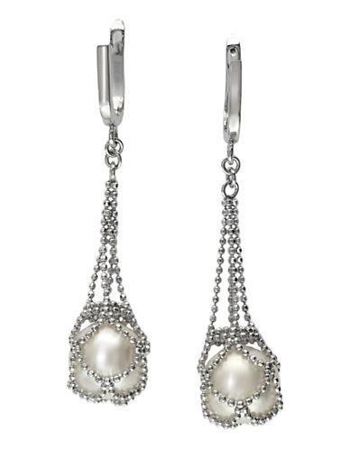 Effy Sterling Silver Fresh Water Earrings-PEARL-One Size
