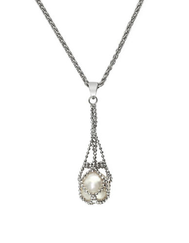 Effy Sterling Silver Fresh Water Pendant-PEARL-One Size