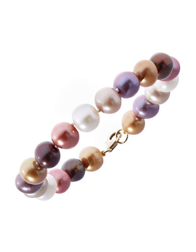 Effy Yellow Gold Multicoloured Pearl Bracelet-MULIT COLOURED-One Size