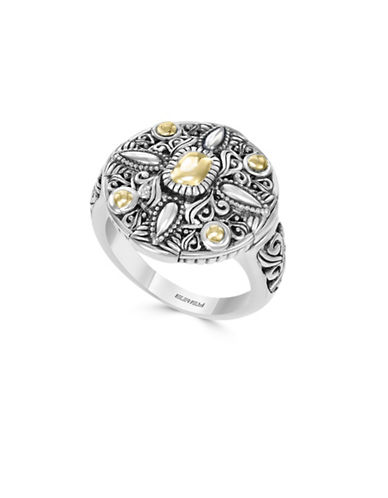 Effy 925 Sterling Silver 18K Yellow Gold Ring-SILVER-7