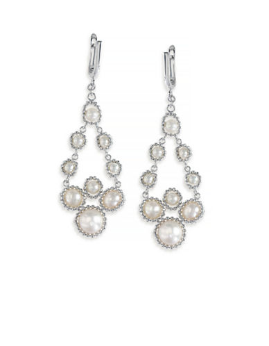 Effy Sterling Silver Fresh Water Pearl Drop Earrings-PEARL-One Size