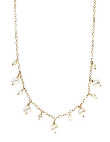 Effy 14K Yellow Gold Freshwater Pearl Fringe Necklace-WHITE-One Size
