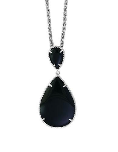 Effy 925 Sterling Silver Onyx Pendant-BLACK-One Size