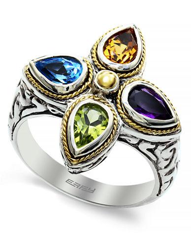 Effy 925 18K Yellow Gold-Silver Multicolor Ring-MULTI COLOUR-7