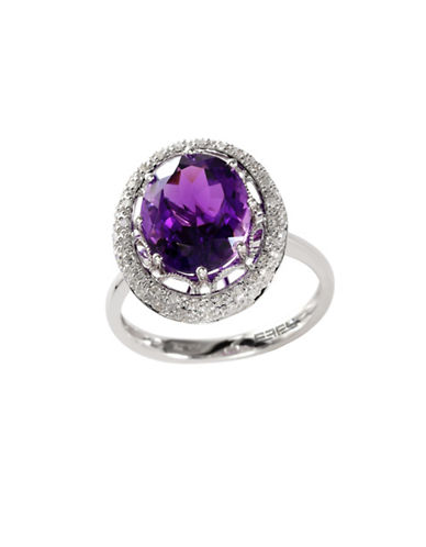 Effy 14k White Gold Diamond and Amethyst Ring-AMETHYST-7