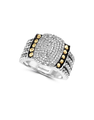 Effy 0.52 TCW Diamonds, 18K Yellow Gold and Sterling Silver Ring-DIAMOND-7