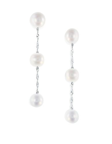 Effy 5.5 MM Cultured Freshwater Pearls and 14K White Gold Earrings-PEARL-One Size