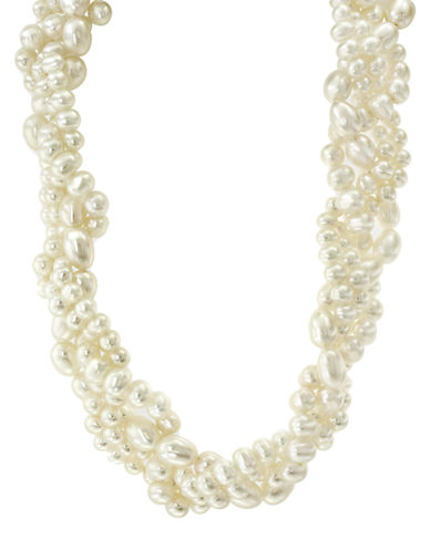Effy Sterling Silver 5-7mm Freshwater Pearl Braided Necklace-PEARL-One Size