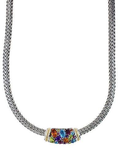 Effy 18K Yellow Gold and Sterling Silver Multi Gemstone Necklace-MULTI-One Size