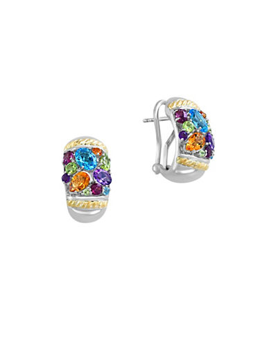 Effy 18K Yellow Gold and Sterling Silver Multi Gemstone Earrings-MULTI-One Size