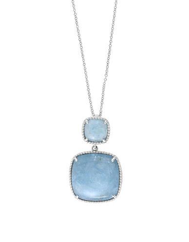 Effy Sterling Silver Milky Aquamarine Pendant Necklace-AQUAMARINE-One Size