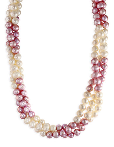 Effy Sterling Silver 6.5mm Dyed Freshwater Pearl Necklace-PEARL-One Size