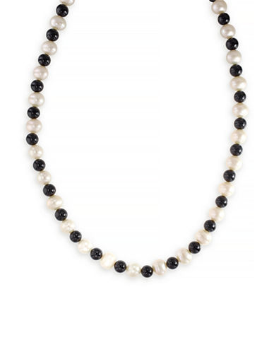 Effy 14K Yellow Gold Pearl and Onyx Necklace-MULTI COLOURED-One Size