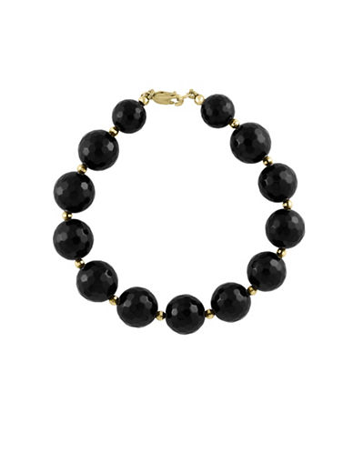Effy Onyx and 14K Yellow Gold Tennis Bracelet-BLACK-One Size