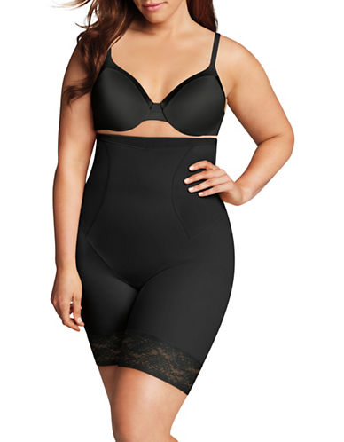 Maidenform High-Waist Thigh Slimmer-BLACK-2X