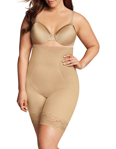 Maidenform High-Waist Thigh Slimmer-BEIGE-3X