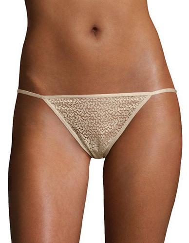 Dkny Modern Lace Bikini Panties-CHAMPAGNE-X-Large