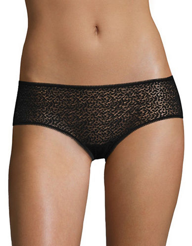 Dkny Modern Lace Hipsters-BLACK-Medium