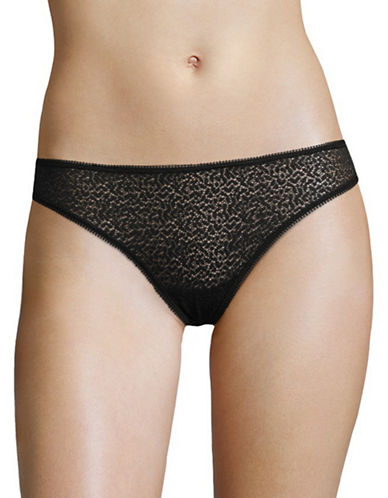 Dkny Modern Lace Thong-BLACK-X-Large