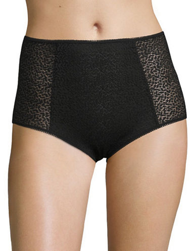 Dkny Modern Lace High Waist Panties-BLACK-Large