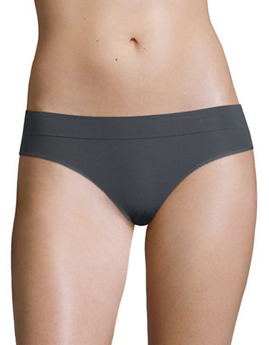 Dkny Seamless Litewear Cotton Bikini Bottom-GRAPHITE-Medium