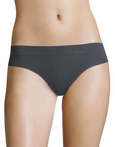 Dkny Seamless Litewear Thong-GRAPHITE-Medium