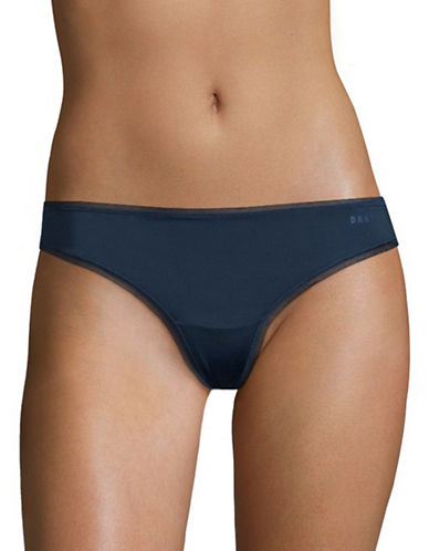 Dkny Litewear Thong-BLUE-Small
