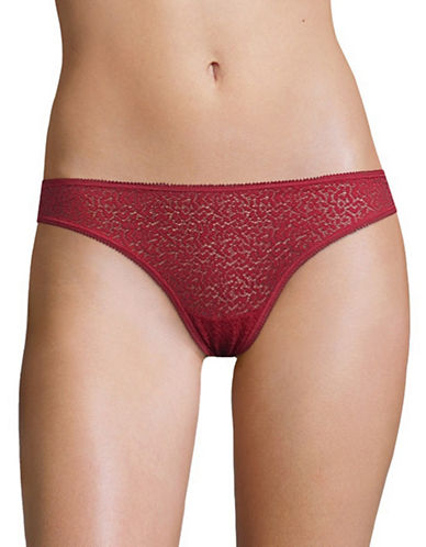 Dkny Modern Lace Thong-RED-Small