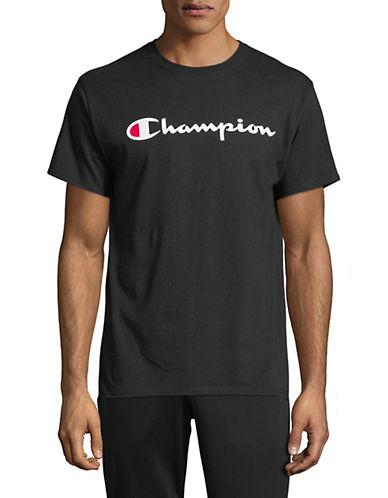 Champion Short-Sleeve Cotton Jersey T-Shirt-BLACK-XX-Large 90025873_BLACK_XX-Large