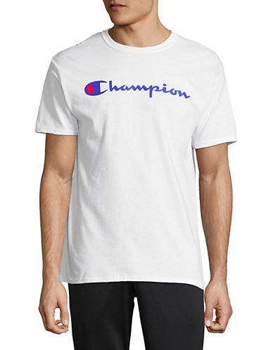 Champion Logo Short-Sleeve T-Shirt-WHITE-Medium 90025885_WHITE_Medium