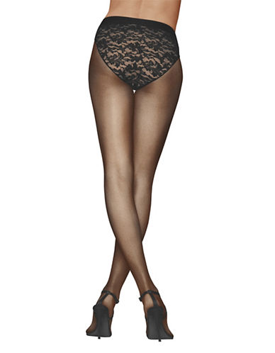 Donna Karan Lace Control Top Panty-BLACK-Small