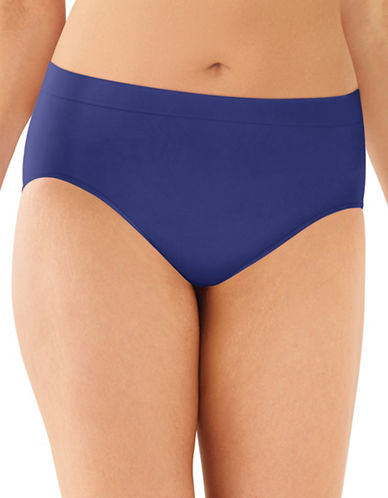 Bali Smooth Microfibre Hi-Cut Panties-BLUE-Medium