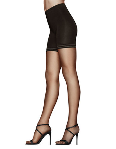 Donna Karan High-Rise Pantyhose-OFF BLACK-Small