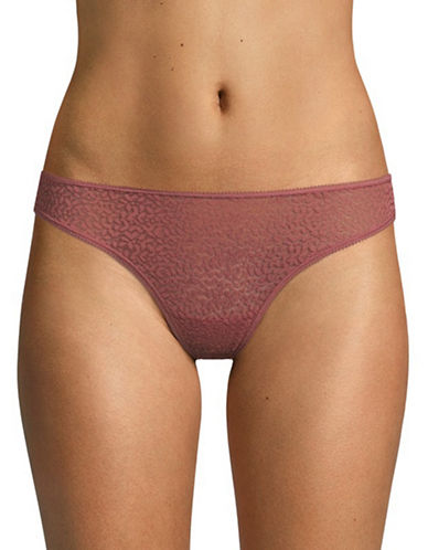 Dkny Modern Lace Thong-ROSEWOOD-Medium