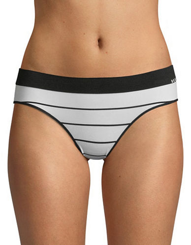 Dkny Seamless Litewear Cotton Bikini Bottom-BLACK/WHITE-Medium