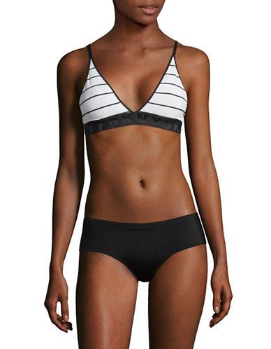 Dkny Seamless Litewear Bralette-BLACK/WHITE-Large