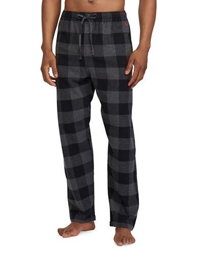 Polo Ralph Lauren Plaid Flannel Pyjama Pants-GREY-Medium