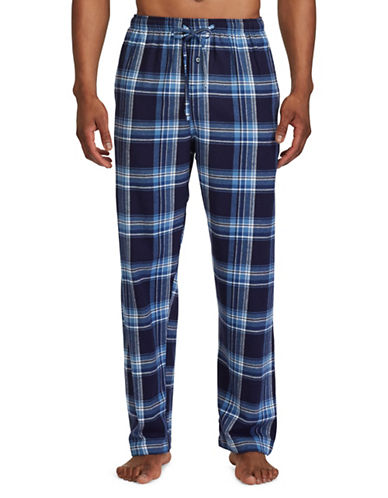Polo Ralph Lauren Plaid Flannel Pyjama Pants-BLUE-X-Large