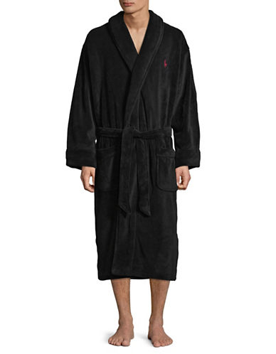 Polo Ralph Lauren Self-Tie Robe-BLACK-One Size