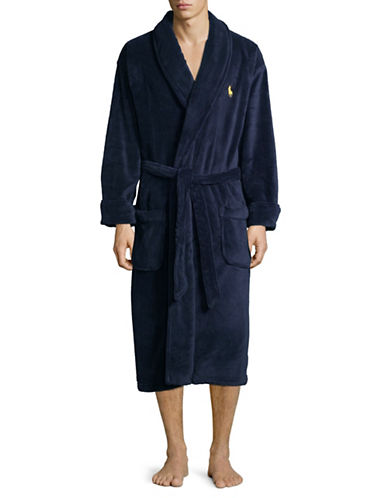 Polo Ralph Lauren Self-Tie Robe-BLUE-One Size