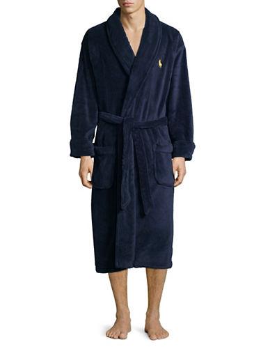 Polo Ralph Lauren Self-Tie Robe-BLUE-One Size