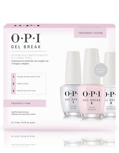Opi Gel Break Trio Pack Properly Pink-CLEAR/PINK/CLEAR-15 ml