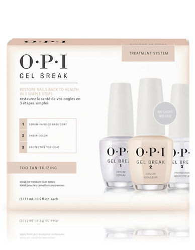 Opi Gel Break Trio Pack Too Tan-tilizing-CLEAR/NUDE/CLEAR-15 ml