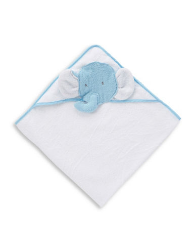 Boker And Laila Elephant Cotton Hooded Towel-BLUE-One Size