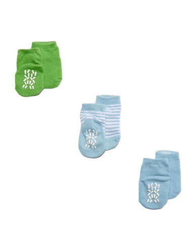 Tendertyme Socks in a Cone Three Pair Set-BLUE-9-18 Months